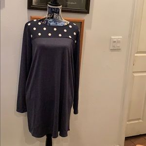 Dusty Navy Blue Dress